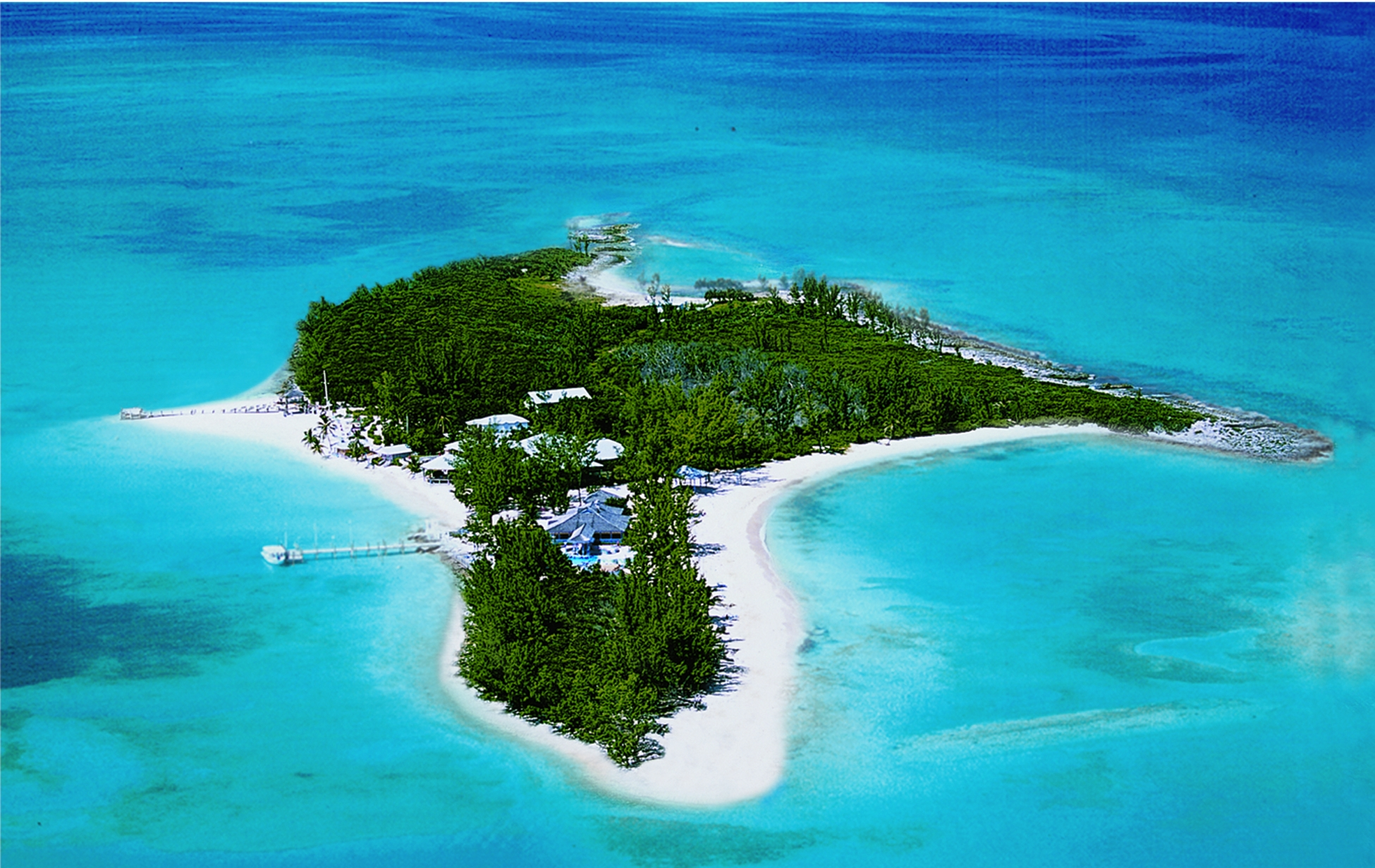 small island areal view
