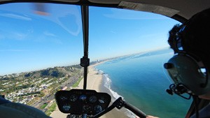 areal view from helicopter