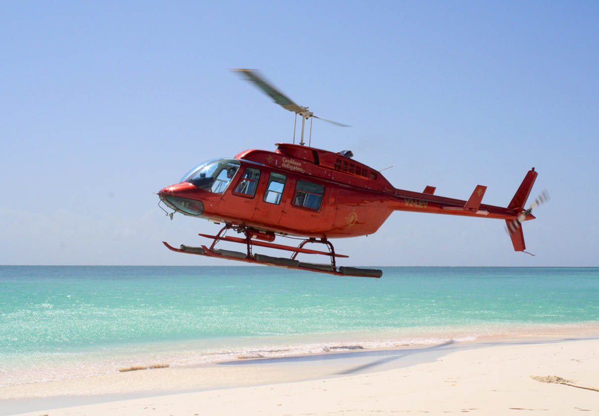 Helicopter on beach