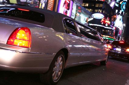 limousine in city