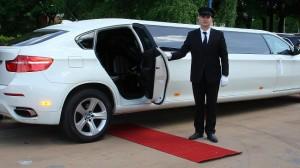 Limo driver opening door