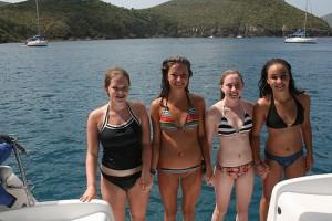 Teens at lake